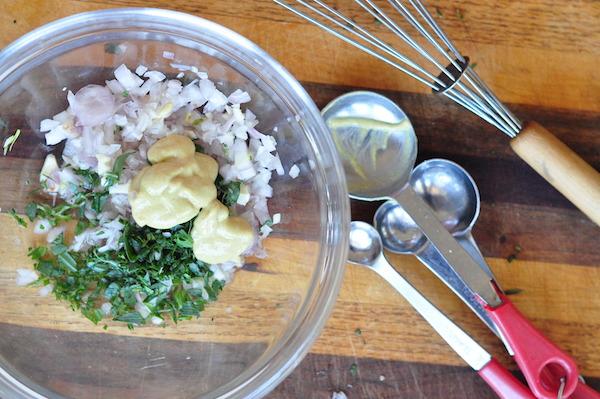 chopped shallots, tarragon, mustard 2