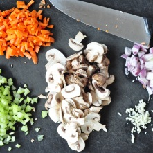 chopped veg with knife 2