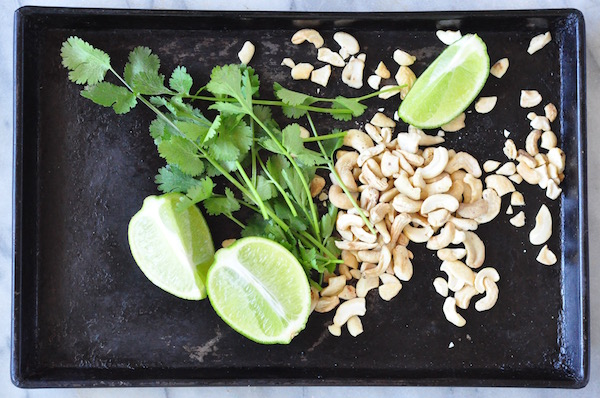 coriander, lime cashews 1