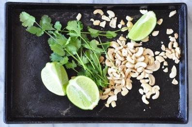coriander, lime cashews 1