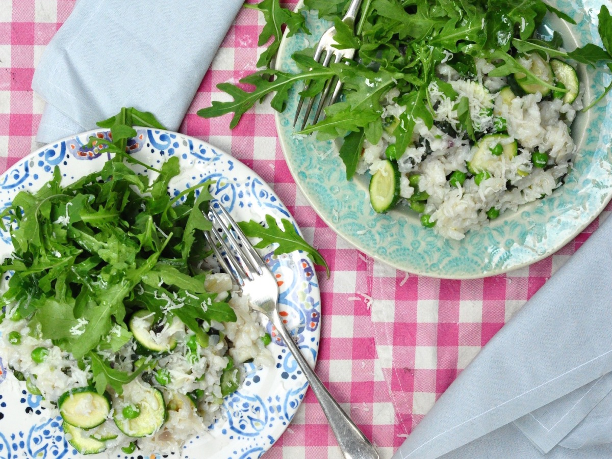 early summer risotto