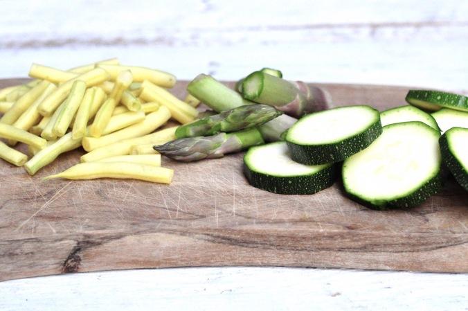 veg on chopping board